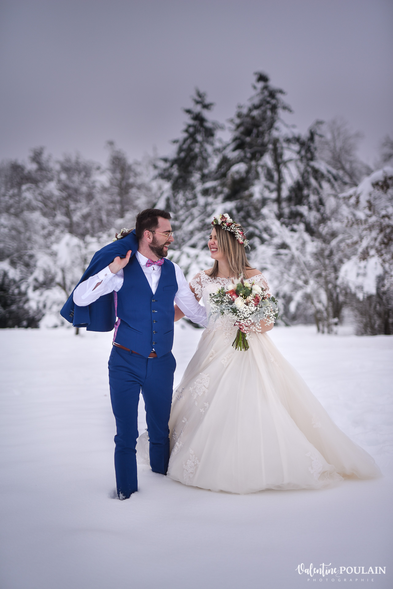 Photo mariage neige hiver - Valentine Poulain regards