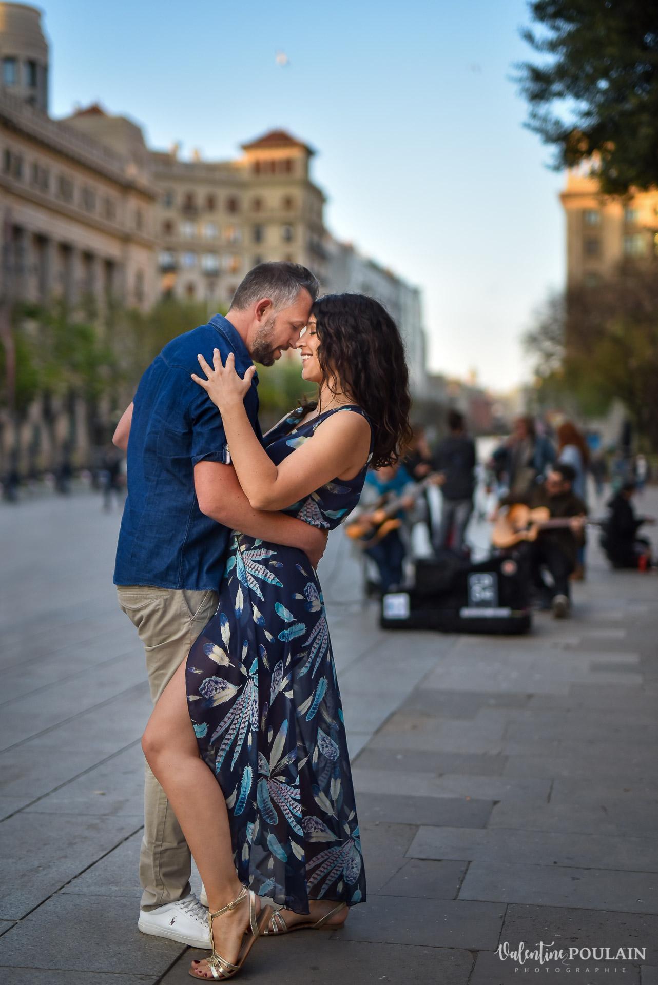 Séance photo couple Barcelone - Valentine Poulain danse