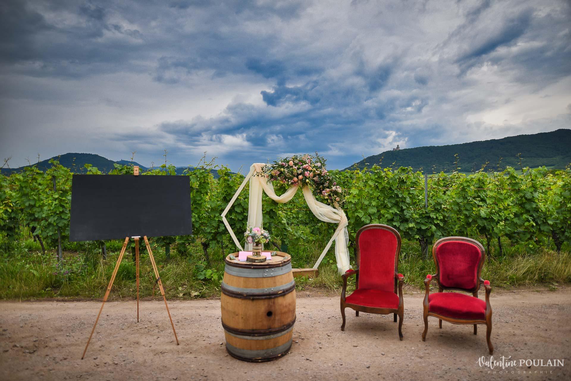 Mariage Domaine viticole Achillée - Valentine Poulain cérémonie
