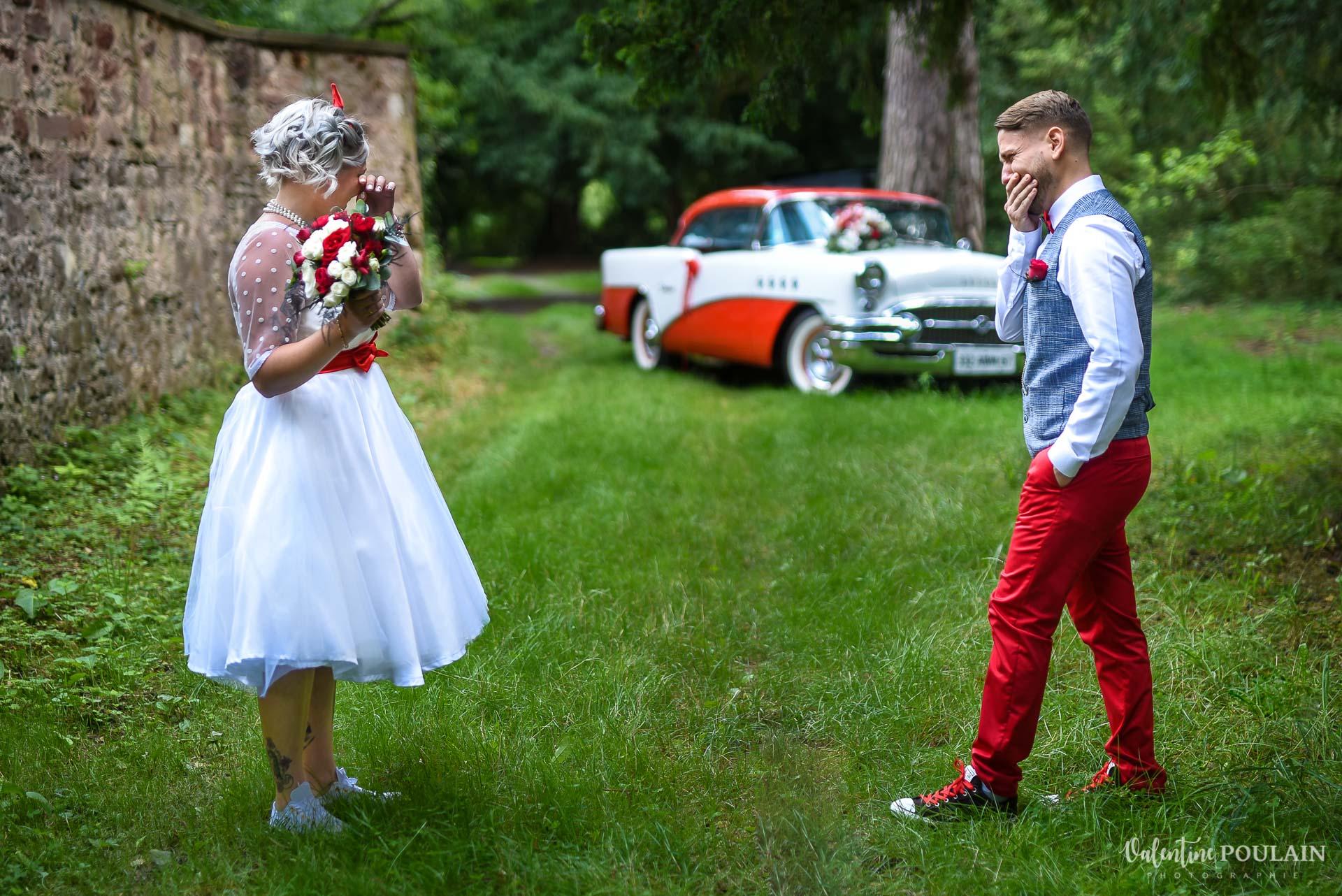 Mariage vintage rockabilly - Valentine Poulain - first look