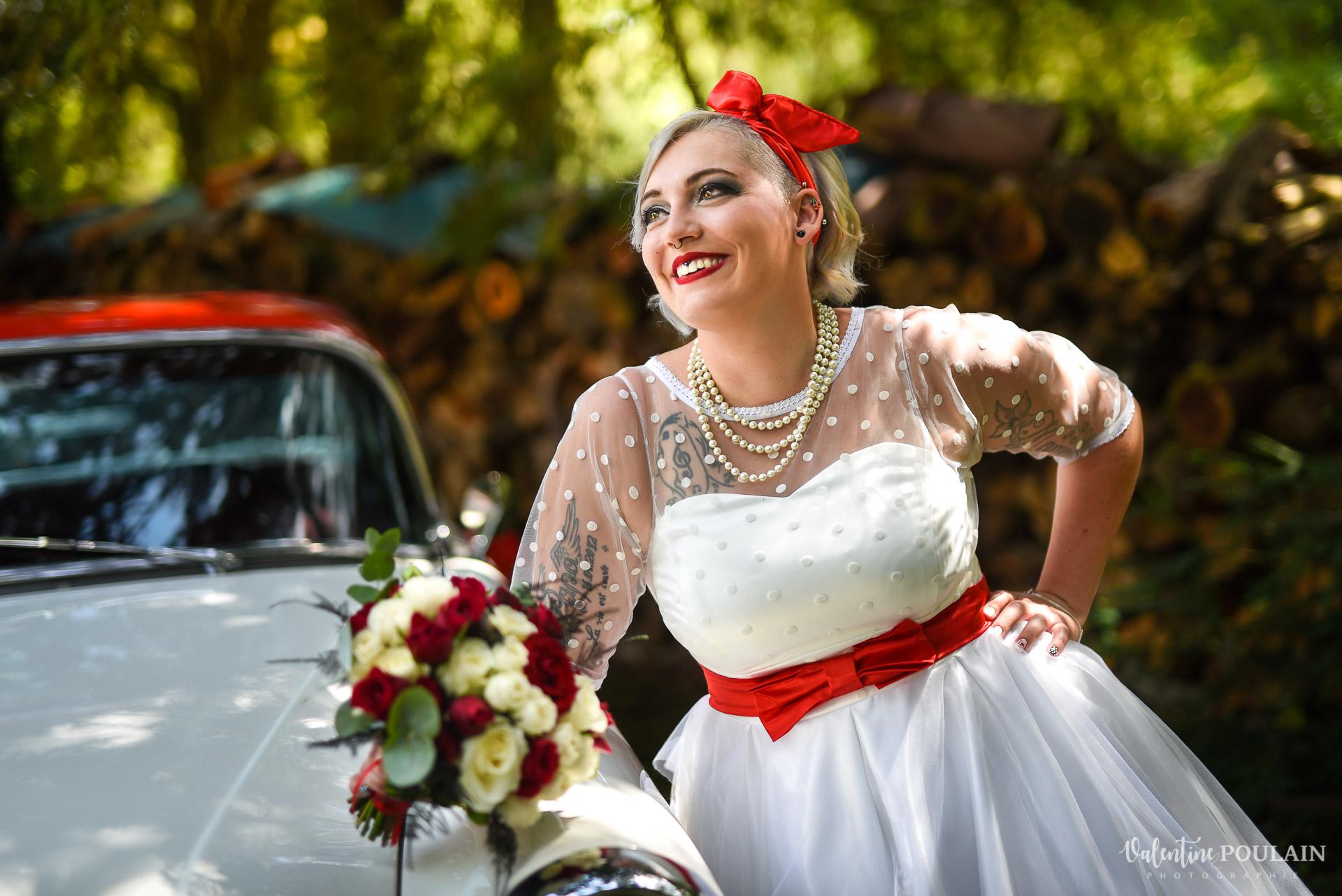 Mariage vintage rockabilly - Valentine Poulain - mariée