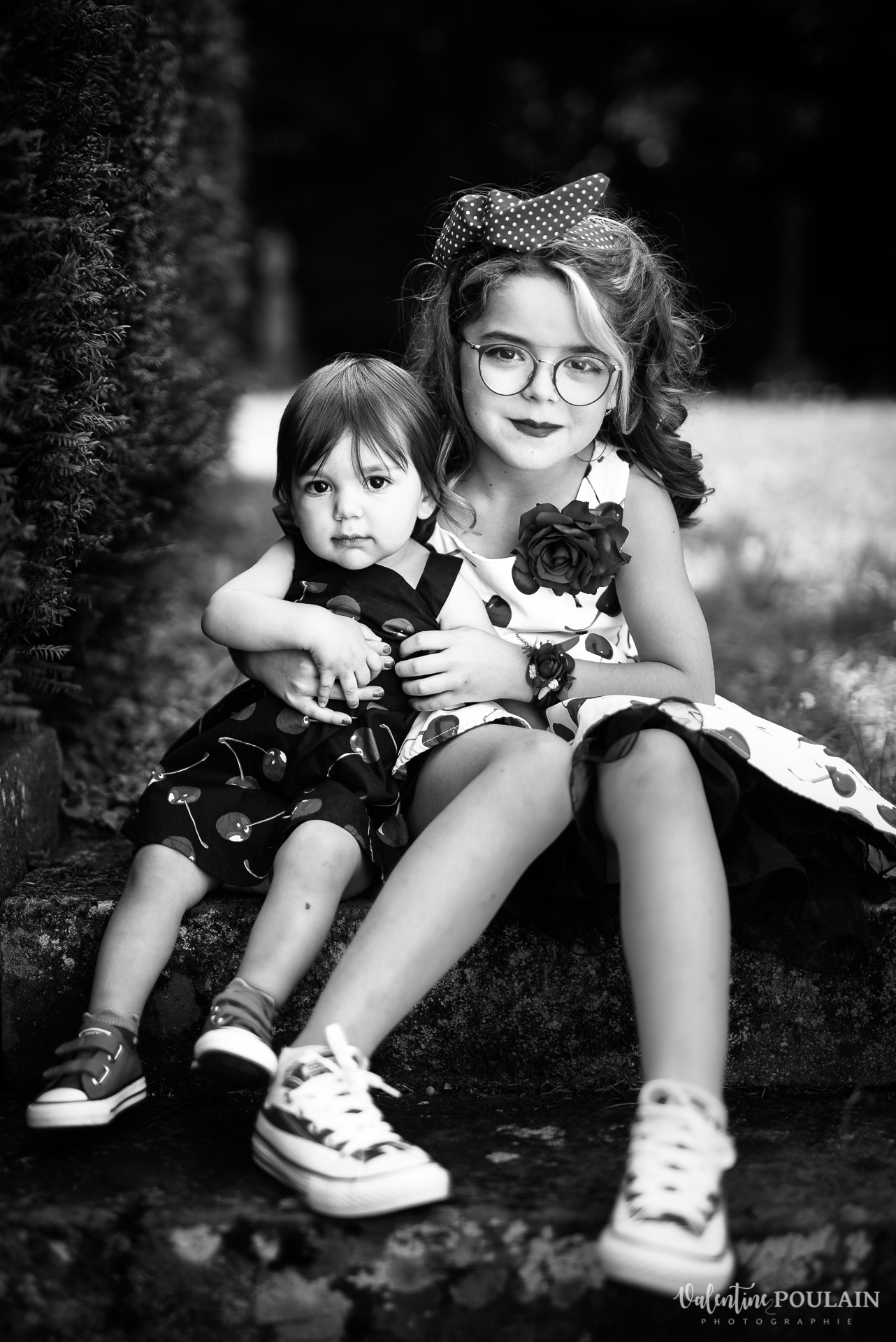 Mariage vintage rockabilly - Valentine Poulain noir et blanc
