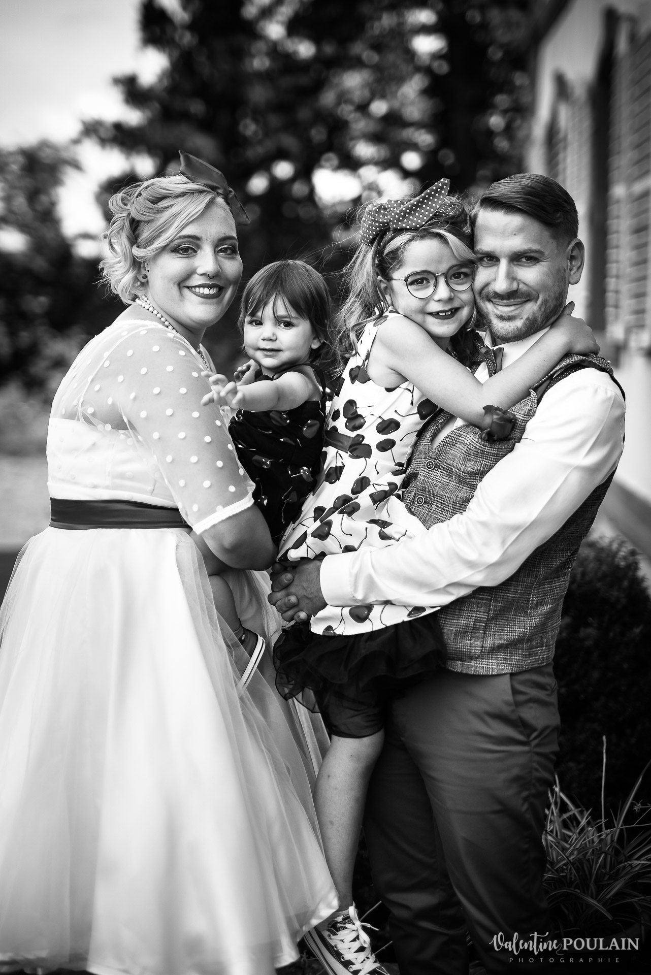 Mariage vintage rockabilly - Valentine Poulain famille