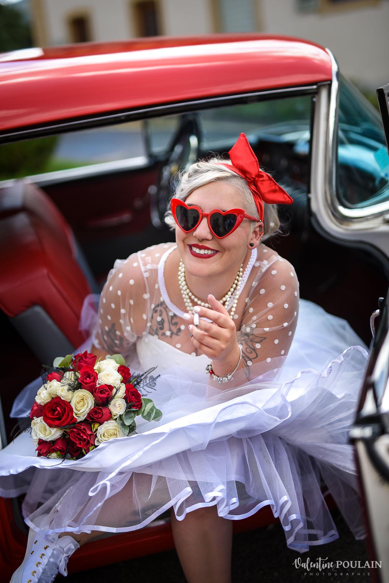 Mariage vintage rockabilly - Valentine Poulain - fumée