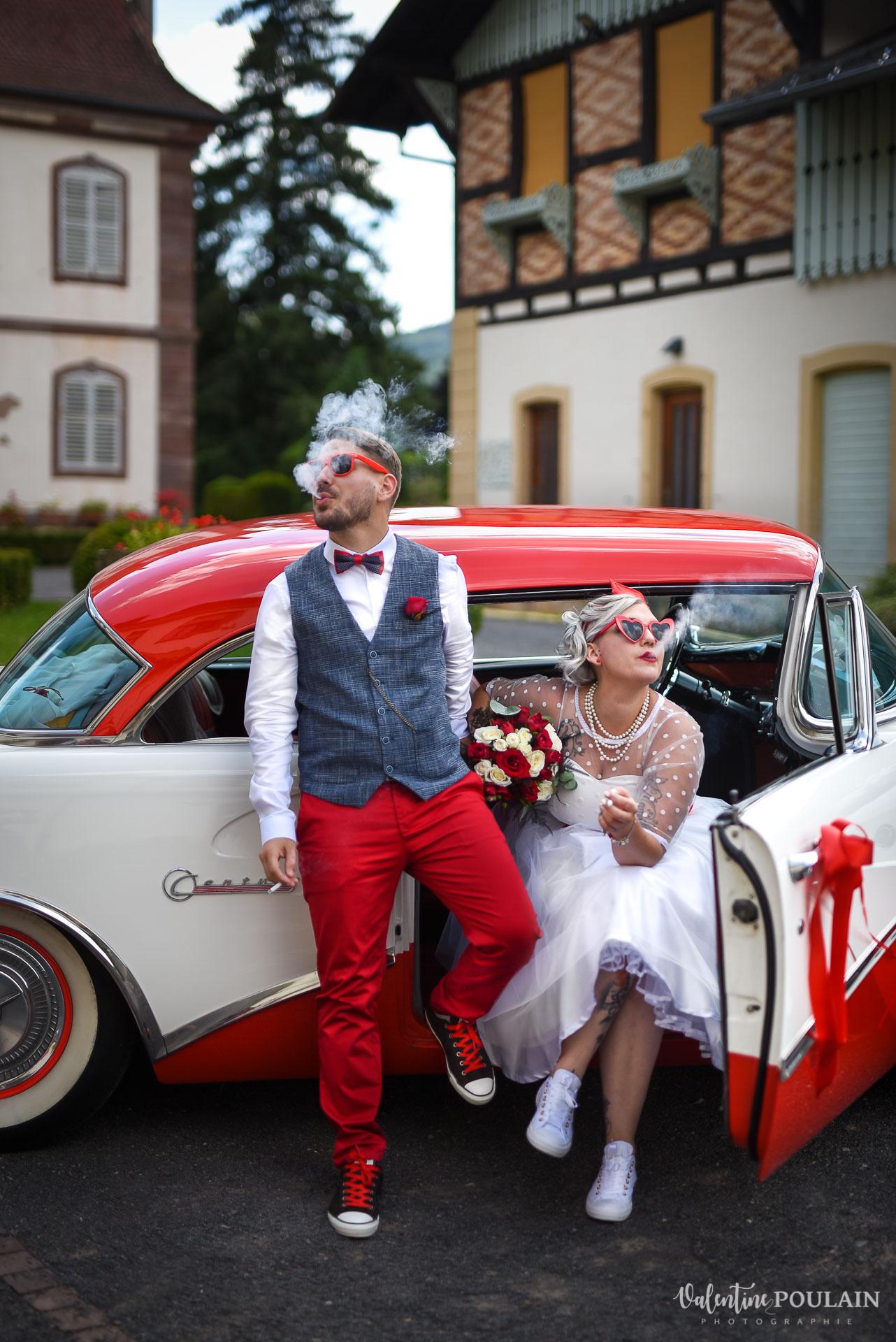 Mariage vintage rockabilly - Valentine Poulain - couleur fumée