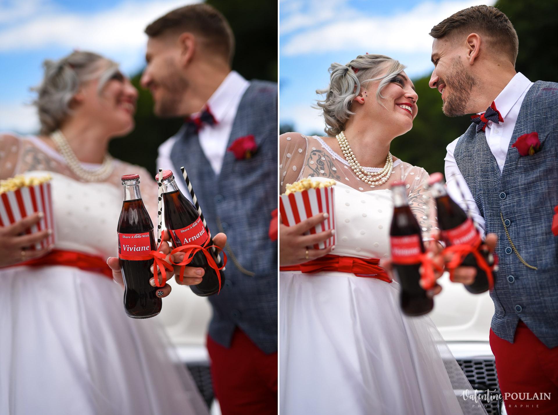 Mariage vintage rockabilly - Valentine Poulain soirée coca cola